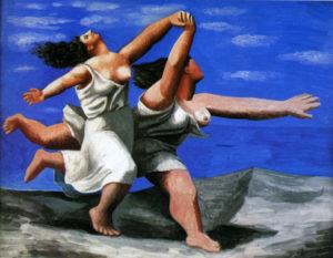 海辺を駆ける二人の女 by ピカソ