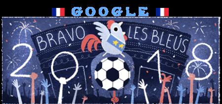 グーグルのフランス優勝おめでとう!